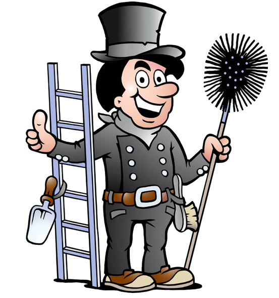 Chimney sweep - thumbs up